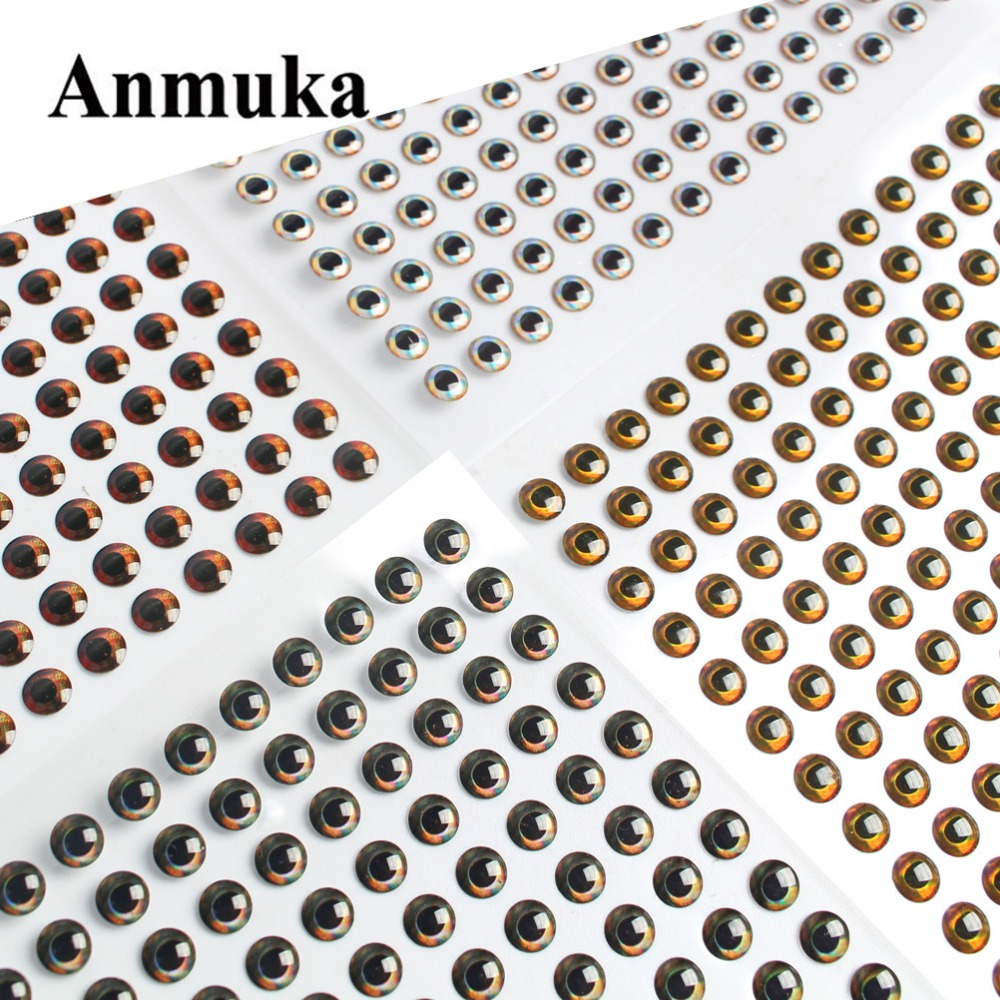 Anmuka DIY 3D Glow Fishing Lure Eyes Luminous Fly Eye 3mm 5mm 7mm 9mm Realistic Artificial Simulation Fish Eye handmade lure 100pcs 3 9mm fish eyes 3d holographic lure eyes fly tying jigs crafts dolls toy h055