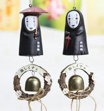 лучшая цена 1pcs studio ghibli Wind chimes figures No Face Resin Action Figure Toys Collection Model Toy