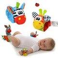 Meias bebê Chocalho Brinquedos 2016 New Garden Bug Wrist Rattle Pé Meias Multicolor 2 pcs Cintura + 2 pcs Meias = 4 pçs/lote Meias Frete Grátis