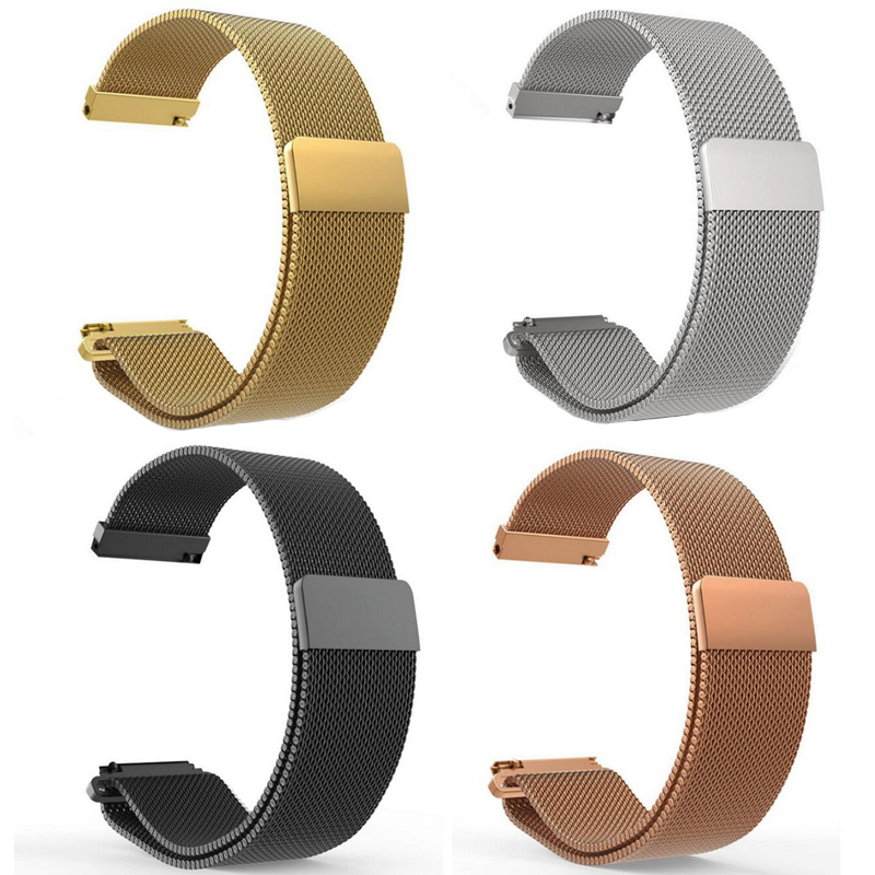 16mm 18mm 20mm 22mm Metal Stainless Steel Milanese Loop Watch Band Strap Quick Release Pin Magnetic Clasp Buckle Black Rose Gold16mm 18mm 20mm 22mm Metal Stainless Steel Milanese Loop Watch Band Strap Quick Release Pin Magnetic Clasp Buckle Black Rose Gold
