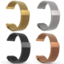 16mm 18mm 20mm 22mm Metal Stainless Steel Milanese Loop Watch Band Strap Quick Release Pin Magnetic Clasp Buckle Black Rose Gold stainless steel watch band 20mm 22mm for diesel quick release metal watchband strap wrist loop belt bracelet black silver gold