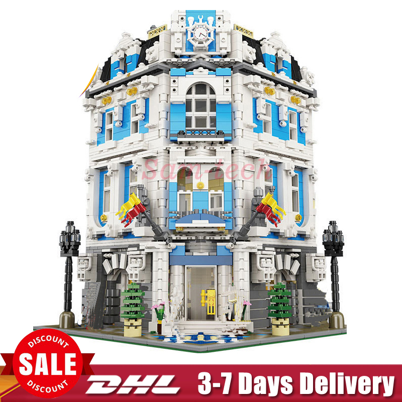 IN Stock DHL LEPIN 15018 3196pcs Creator City Series Sunshine hotel MOC Model Building Kits Brick Toy Compatible Christmas gifts new 3196pcs lepin 15018 moc city series the sunshine hotel set building blocks bricks educational toys diy children day s gift