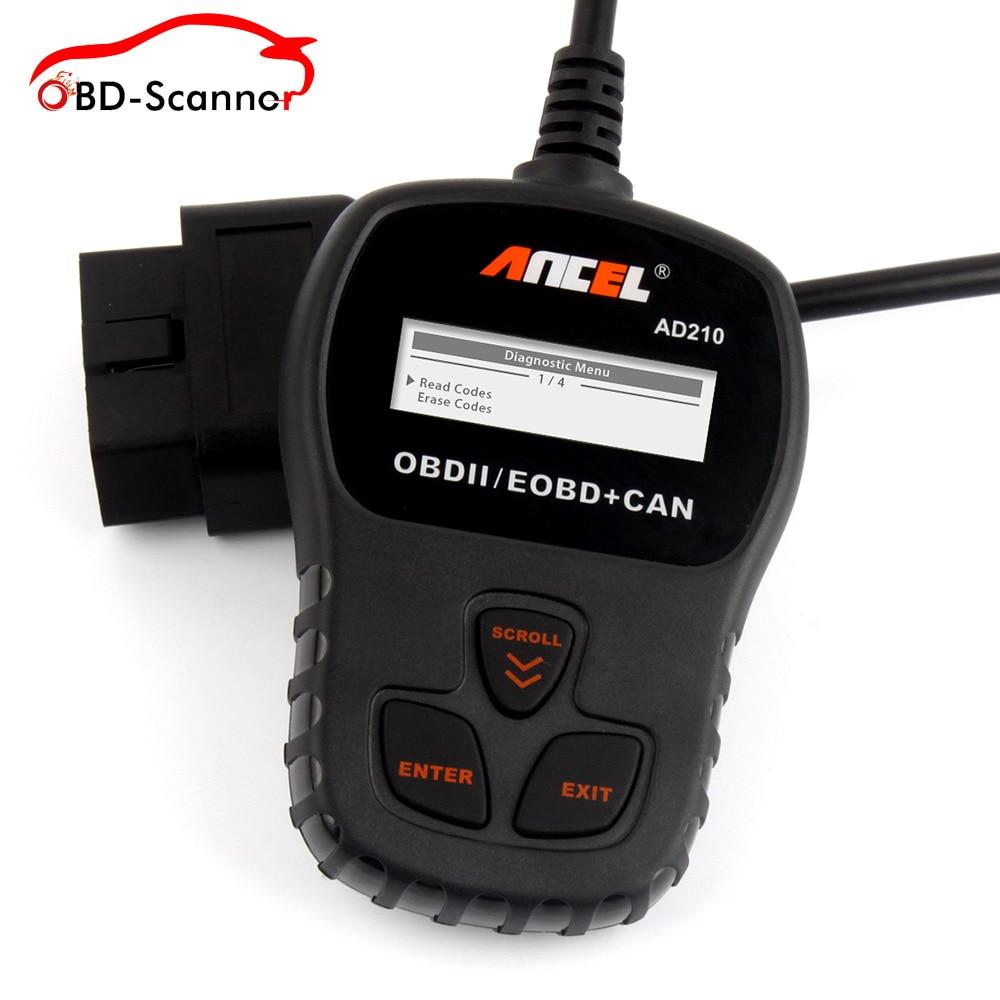 Prix pour Ancel AD210 OBD2 Outil De Diagnostic Automobile Scanner OBD Voiture Universel Outil D'analyse Avec Russe Auto Code Reader Meilleur que ELM327
