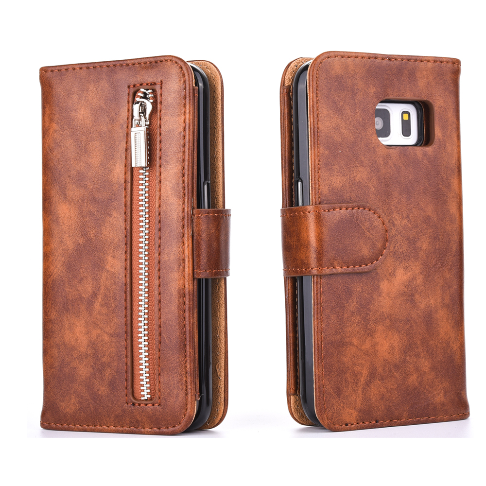 Zipper Wallet Note 8 Samsung Galaxy S8 Plus S7 Edge Note 5 Case Leather Flip Cover Phone Accessories