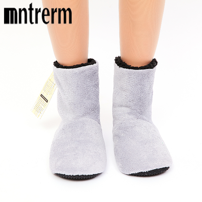 Mntrerm 2018 New Men Style Plush Warm Home Slippers Winter Solid Soft Flats Indoor Man ShoesComfortable Seven Color Slippers