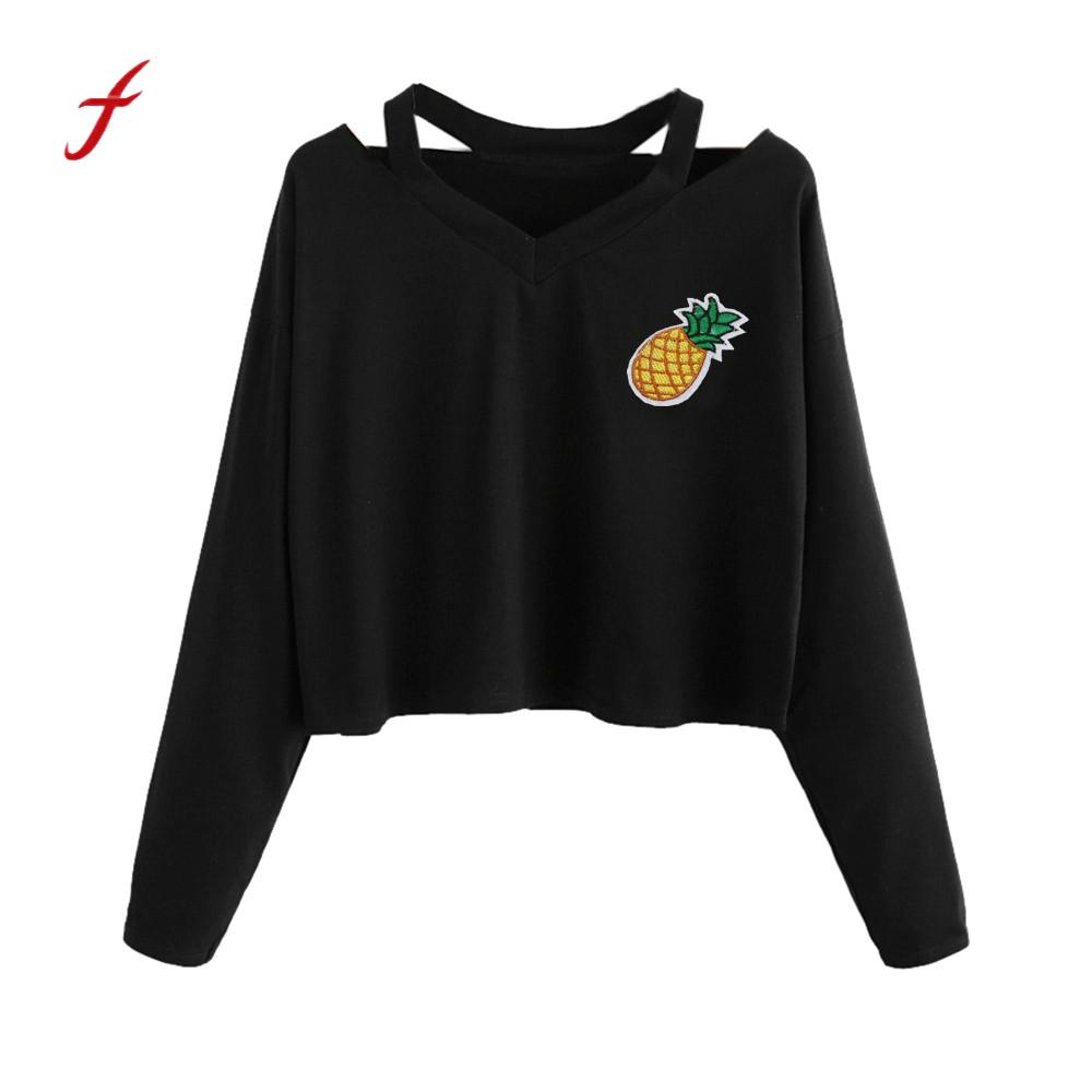 Pineapple Planet Printed Shirt Long Sleeve Crop Tops Fashion Women Casual Ladies Tee Femme Camisetas Mujer Autumn Summer T-shirt overcoat