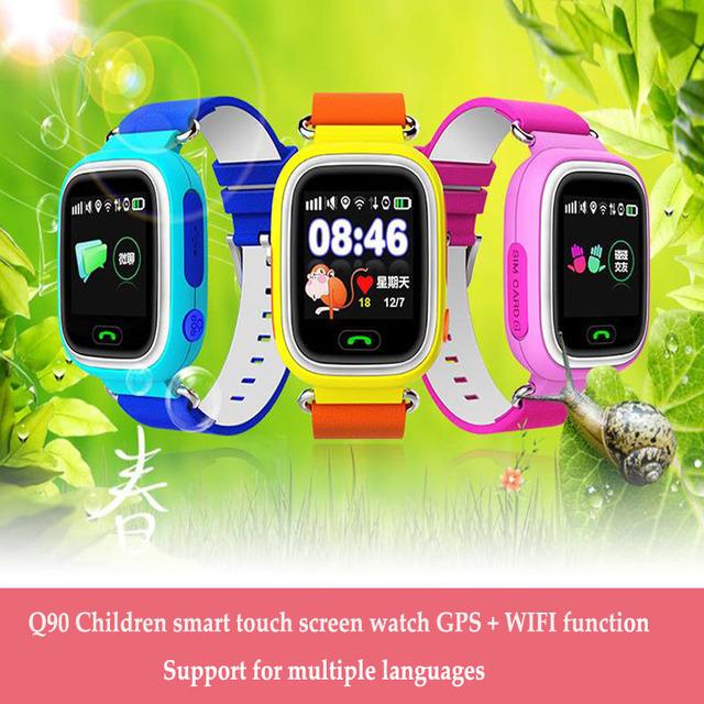 Gps smart watch crianças assista q90 com wifi tela sensível ao toque de chamada sos dispositivo de localização rastreador para o miúdo seguro anti-lost monitor de