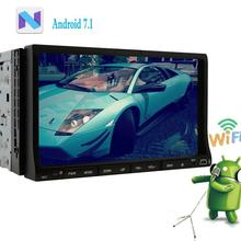 2Din Android 7.1 Car DVD Player in Dash Stereo Radio GPS Navigation Head Unit Support Wifi Autoradio Bluetooth 1080P Video Radio