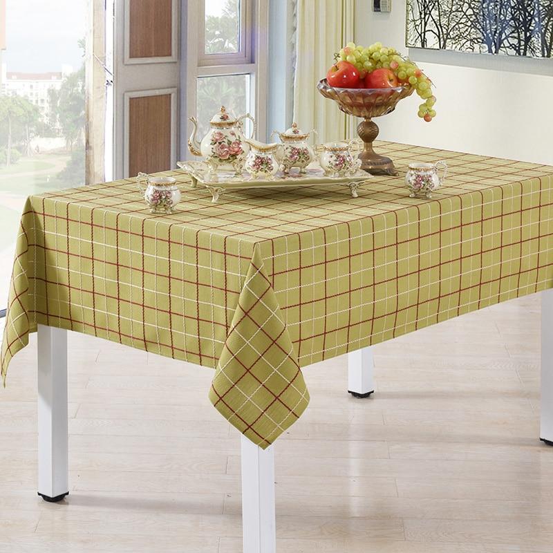 90 275cm x 90 x 275cm Plaid Tablecloth Square Rectangular ...