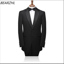 men tuxedo notch shawl groom suits men black custom made suit 2016 high quality slim fit formal wear