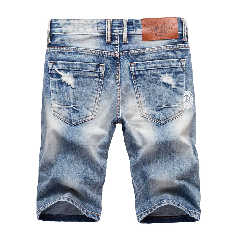 Summer Fashion Mens Jeans Shorts High Quality Ripped Jeans For Men Denim Shorts Brand Street Youth Casual Beach Shorts Men Jeans in Jeans from Men 39 s Clothing