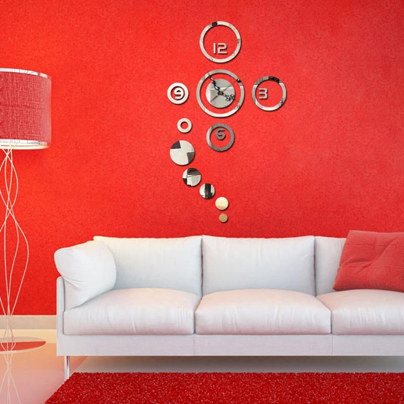 3d Decor A La Maison Diy Horloge Murale Miroir Design