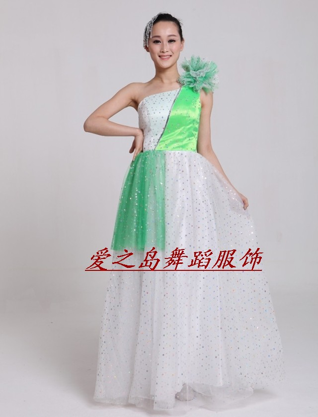 long dress modern dance costume clothes women's free shipping