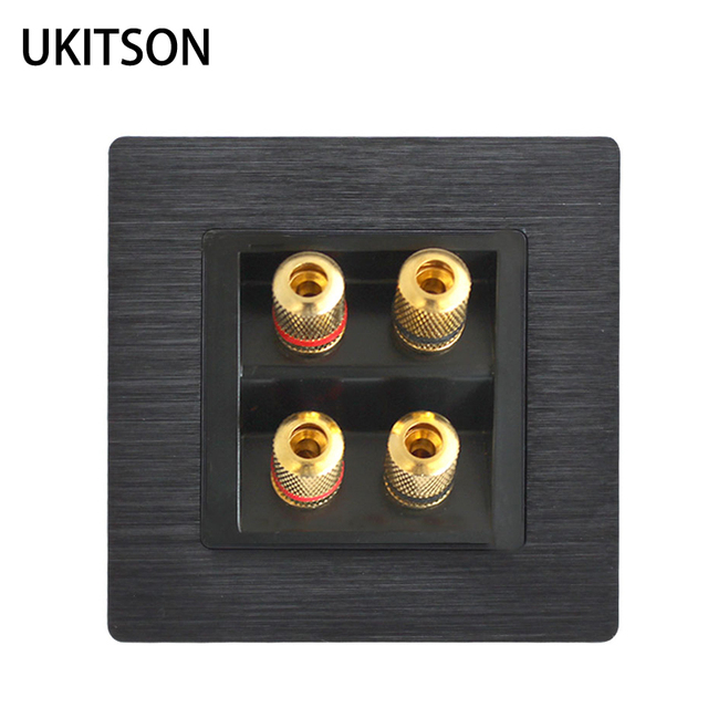 Quality Speaker Wall Panel Frame With 4 Ports Banana Connectors For Home Theater System