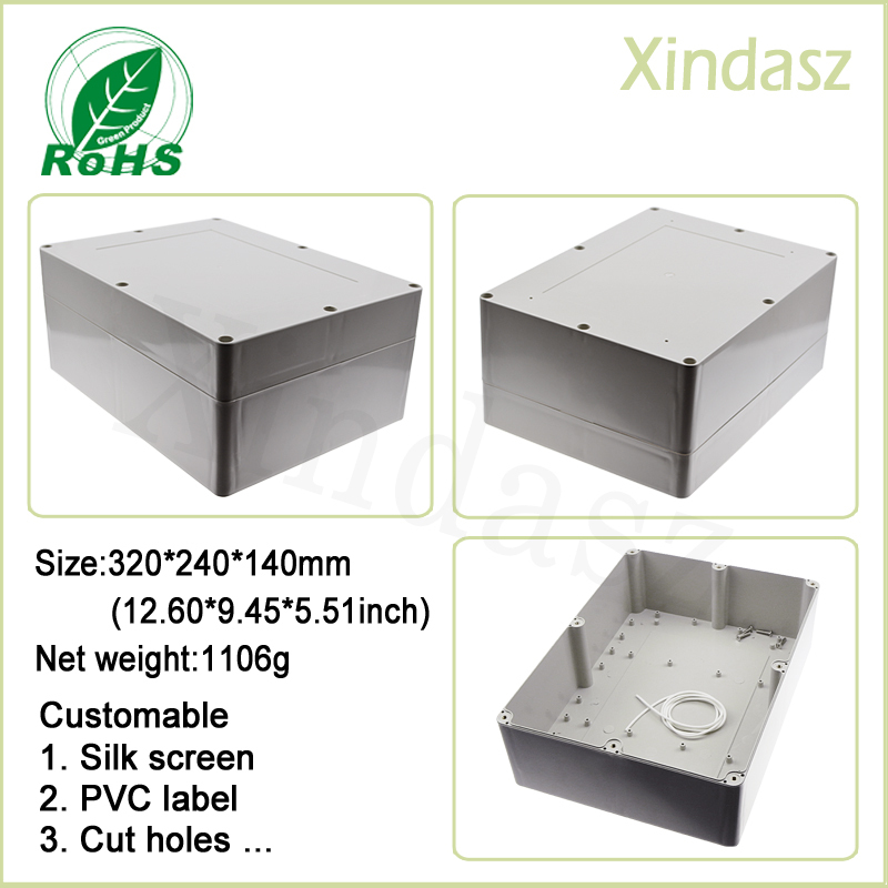 320*240*140mm 12.60*9.45*5.51 Inch Custom Concealed Switch Box Enclosure Control Switch Box plastic box diy 4pcs a lot diy plastic enclosure for electronic handheld led junction box abs housing control box waterproof case 238 134 50mm