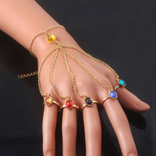 Infinite power glove gauntlet pulseiras pulseiras gema pedra pulsera para mulheres meninas jóias presente