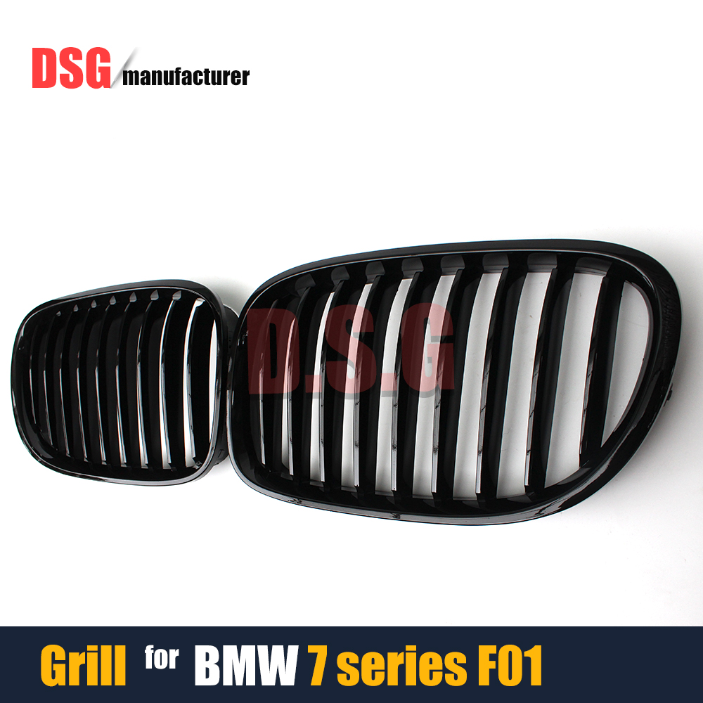 Racing Grills Front Bumper Kidney Grille Mesh Fit For BMW 7 Series F01 F02 F03 F04 2010 - 2015 740i 750i 730d 740d