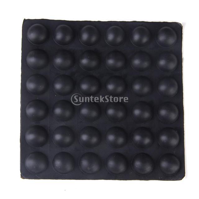 MagiDeal Adhesive Hemisphere Rubber Feet Bumper Door Furniture 36 pcs Black