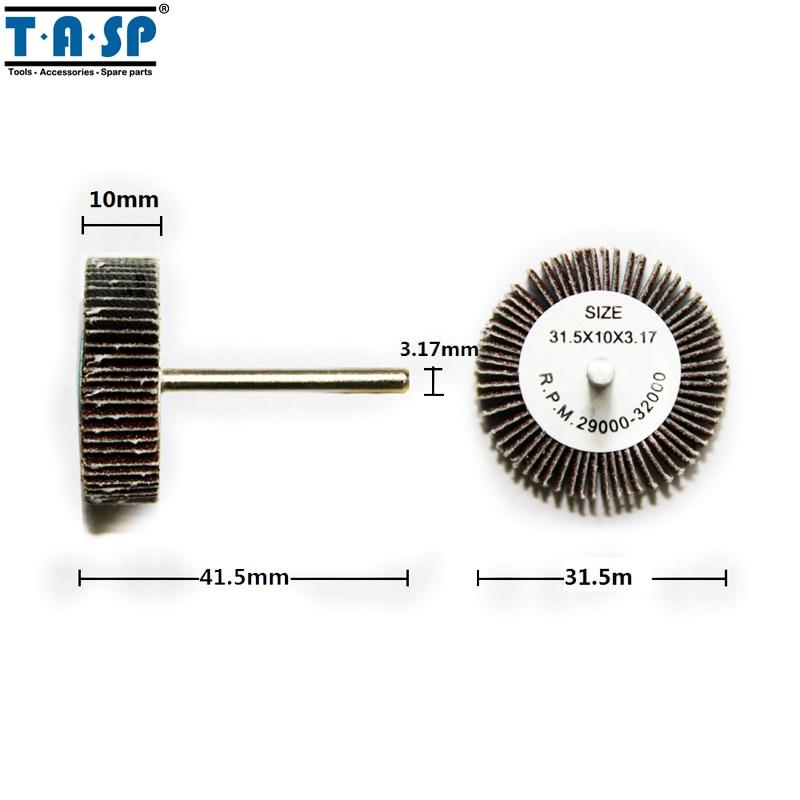 TASP 9pcs disque de ponçage de roue à lamelles abrasives - Outils abrasifs - Photo 2