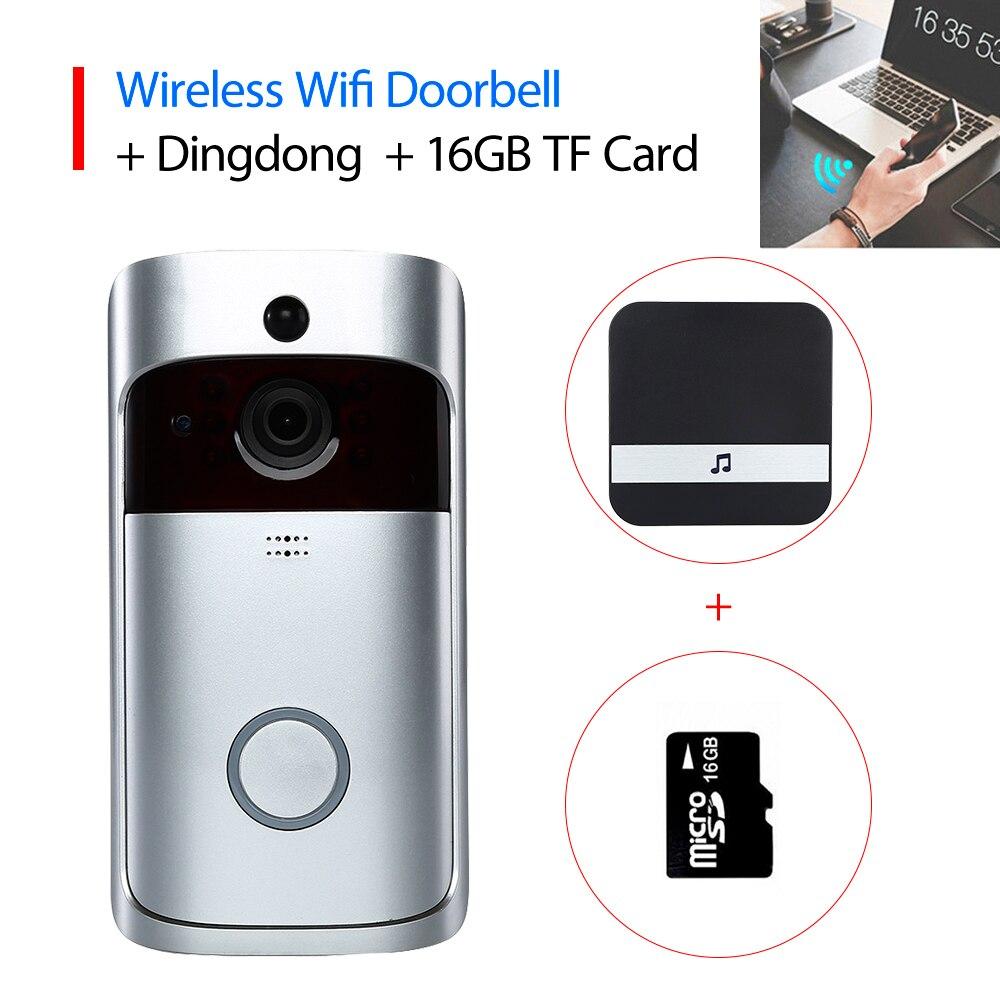 Smart Wireless Wifi Security Doorbell Video Door Viewer Call Ring Door Bell With Camera Digital DH Night Vision Door Bell Camera