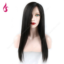 Fashion New Style Black Long Natural Straight Chinese Synthetic Lace Front Wigs