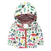 Boys Dinosaur Jacket Girl Cartoon Outerwear Baby Hooded Coat Spring Autumn Clothes Zipper Windbreaker Hoodies Children Clothing