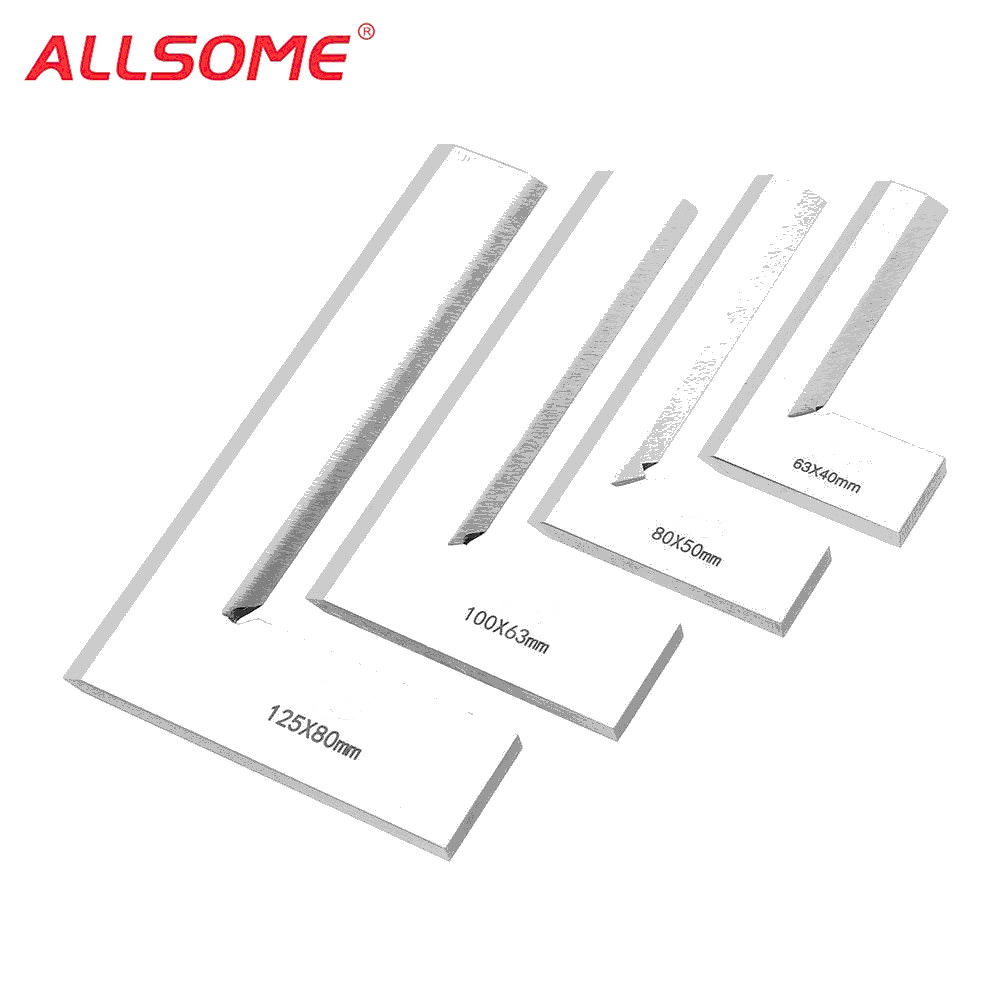 ALLSOME Machinist Precision Knife Edge Square Ruler 90 Degree Right Angle Ruler Engineer Measuring Tool HT2073-2076