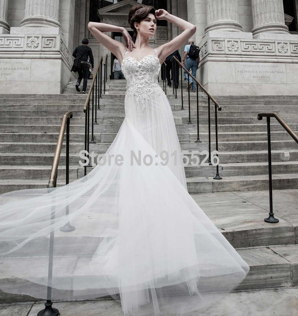 Sheath Sweetheart Tulle Wedding Dresses Lebanon Sexy Backless Soft - White Indian Wedding Dress
