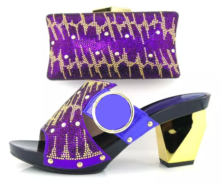 ФОТО 2016 New Fashion African Shoes And Matching HandBag Set With Stones,Nice Look Women Shoes And Bags Set For Party HY3012