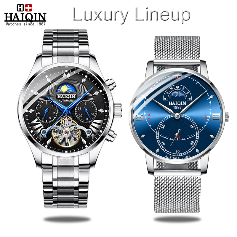 HAIQIN 2019 Set mens watches top brand luxury automatic mechanical watch men Quartz sport wristwatch men reloj hombre tourbillonHAIQIN 2019 Set mens watches top brand luxury automatic mechanical watch men Quartz sport wristwatch men reloj hombre tourbillon