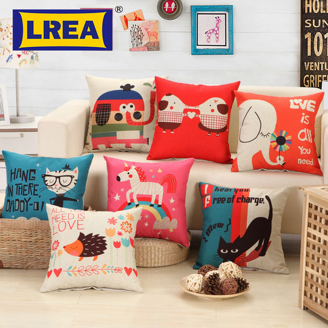 Brand Cute Animals Style Cushion Cover Fashion New Cat Decoration Pillow Bed Sofa Home Decorative