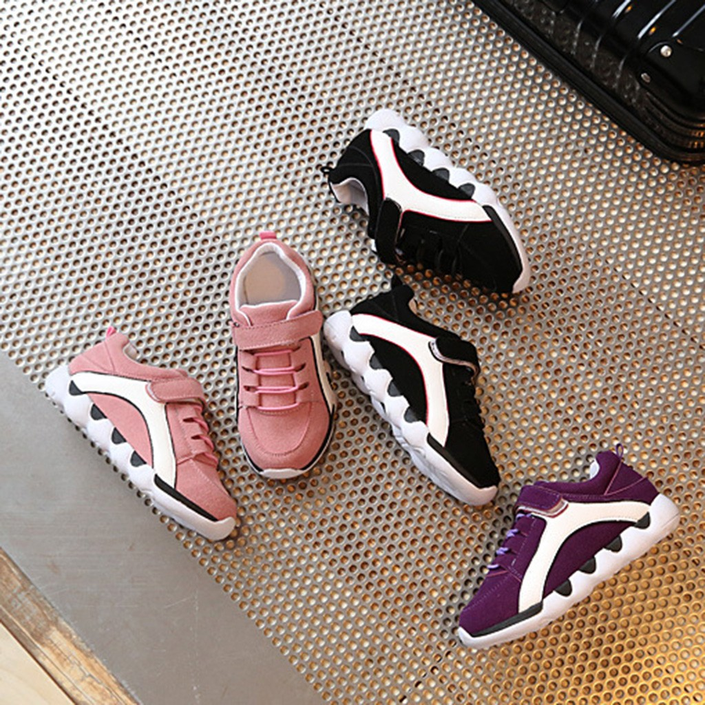 Kids Shoes For Baby Boys Girls Children's Casual Sneakers Air Mesh Breathable Soft Running Sports Shoes Pink Gray Lightweight