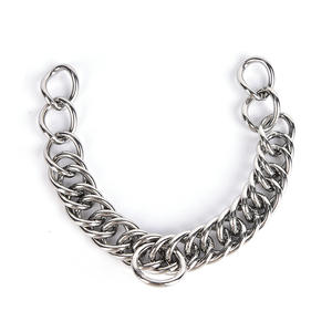 1pc stainless steel double link curb chain for horse bits pet