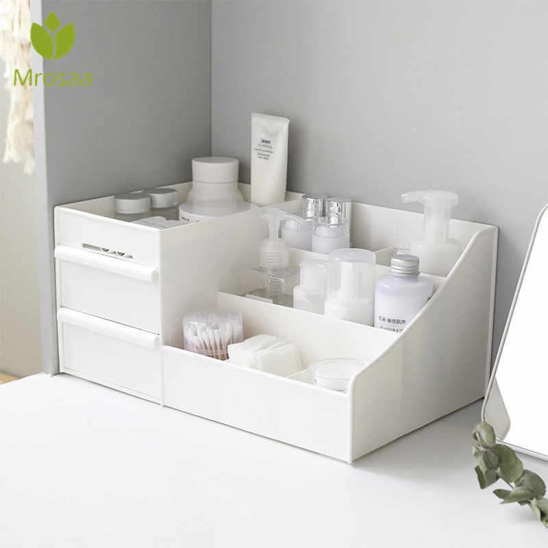 Caixa de Armazenamento De cosméticos Gaveta de Mesa de plástico Maquiagem Penteadeira caixa de Artigos Diversos de Rack de Casa Organizador Recipiente do Cuidado Da Pele Do Telefone Móvel