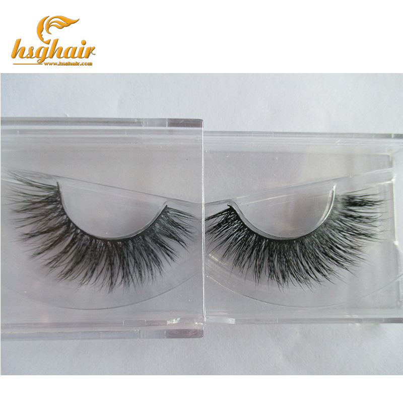 Free shipping in stock 100% real handmade siberian mink fur strip lashes mink eyelashes A8