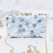 Angelatracy 2019 New Arrival 3d Floral Stereo Embroidery For cheongsam HanFu Chinese Style Lady Lace Diamond Frame Bag Flap
