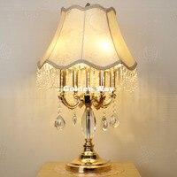 Бесплатная доставка Кристалл Настольная лампа для Спальня роскоши кристалл настольная лампа современный ночники K9 Роскошные хрустальные