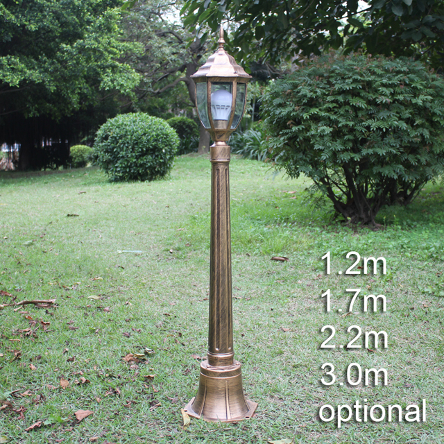 outdoor post lights globe traditional european landscape light garden lawn lamp waterproof classical outdoor post led pole vintage