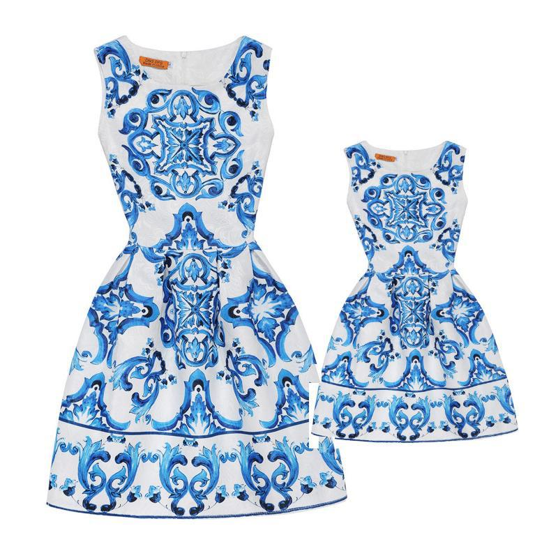 Mother Daughter Dresses Flower Girls Princess Dress Mom Holiday Clothes Kids Baby Party Wedding Clothing Family Matching Outfits family matching outfits mom kids baby toddle girl holiday party dress children clothing sets mother daughter summer lace dresses