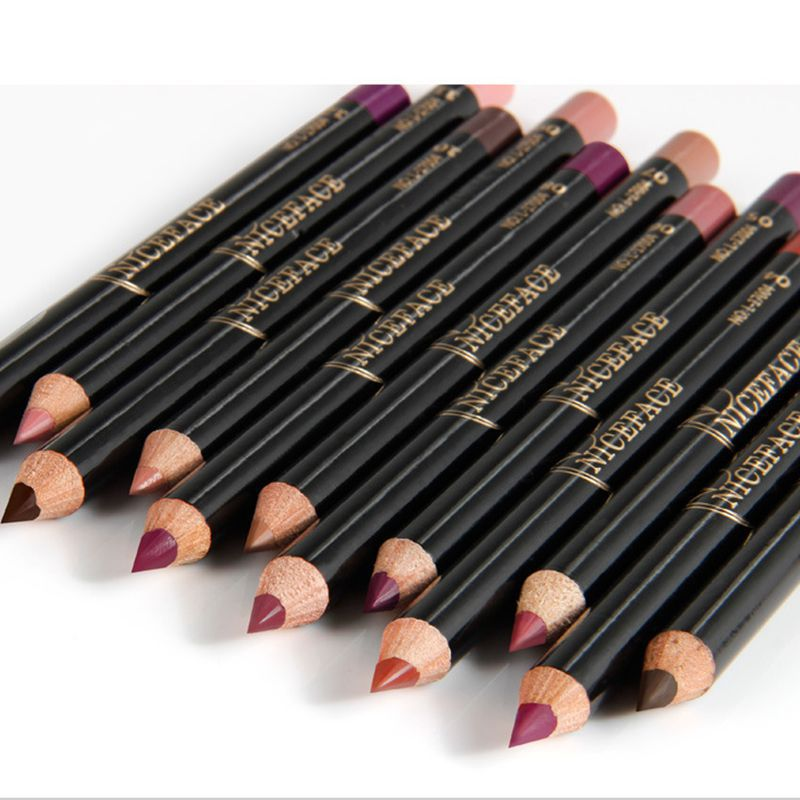 Lápis para Lábio 12 pçs/set fosco profissional lápis Tamanho : Tamanho Completo