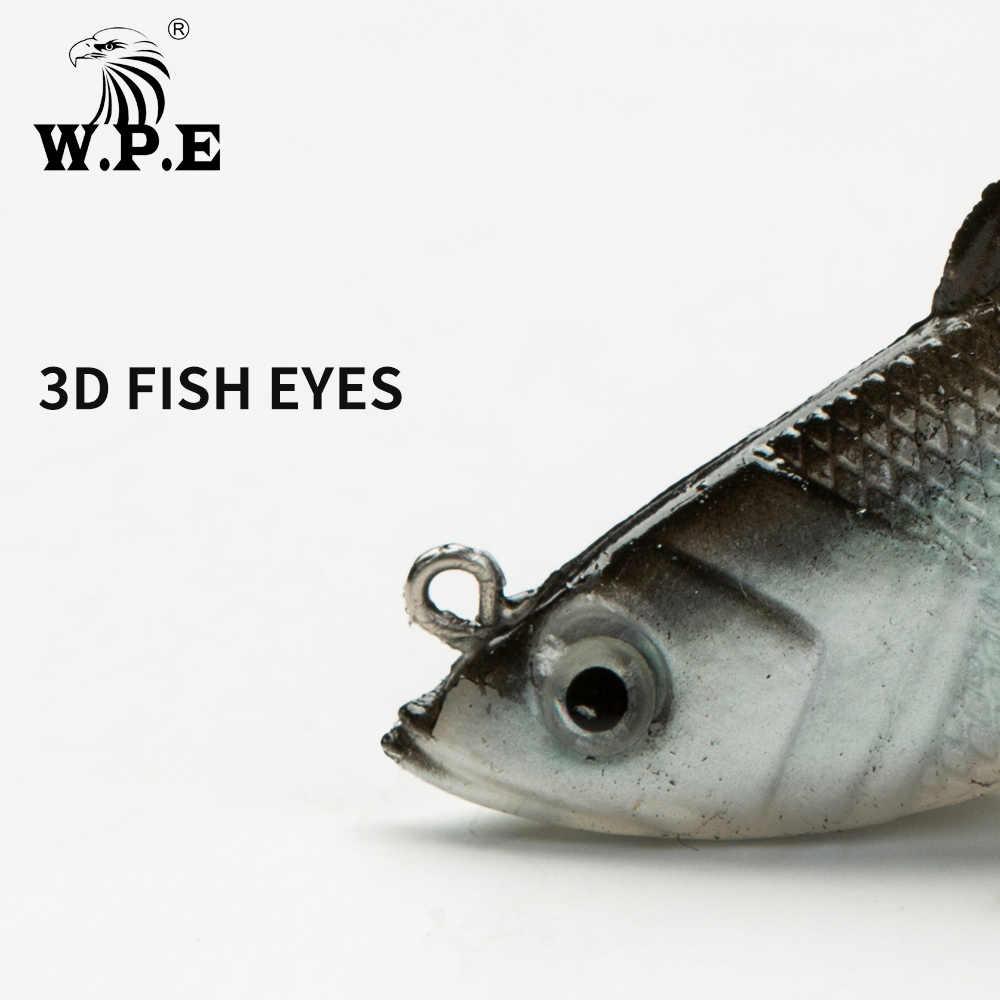 W. p. e бренд свинцовая головка рыболовная приманка 8 см/10 см/12 см/14 см Мягкая приманка 1 шт. 17 г-42 г Джиг Рыболовная Swimbait тройной крючок рыболовные снасти