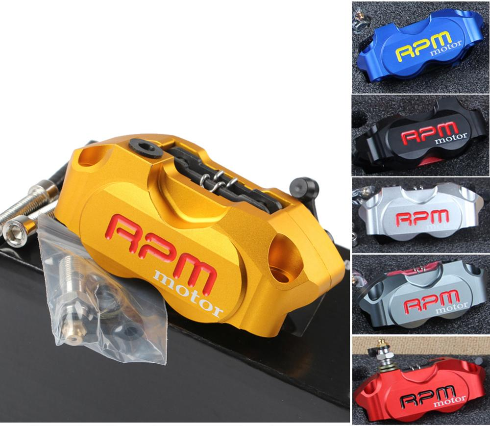 RPM Motorcycle ebike Motorbike brake Calipers Pitch 82mm Racing Dirt Bike Scooter Radial Mount Disc Caliper 200 220 Front Rear keoghs motorbike rear brake caliper bracket adapter for 220 260mm brake disc for yamaha scooter dirt bike modify
