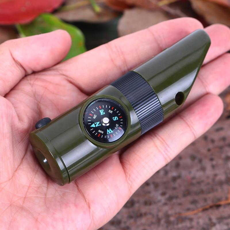 1PCS 7-də 1 Düşərgə Survival fit Kompas Termometr Fənər - Komanda idman növləri - Fotoqrafiya 6