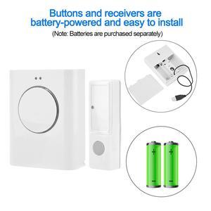 Image 2 - Sonnette étanche sans fil 433MHZ sonnette 200M à distance maison MP3 télécharger sans fil porte cloche anneau cloche