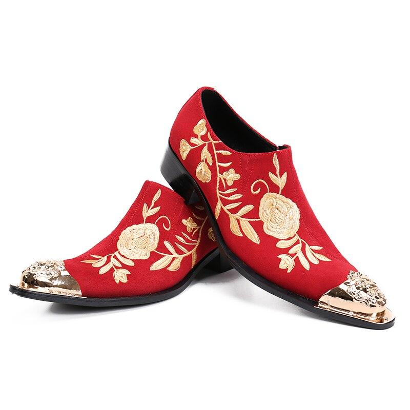 Preto De Toe Masculinos Negócios Picture Escritório Picture Ouro as As Chinelos Homens Sapatos Bordados Loafers Metal Apontou Cravado Britânicos Veludo qxn4gvwS