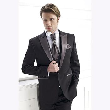 154a2d59877e Alta calidad un botón padrino chal solapa novio esmoquin hombres trajes  boda/graduación mejor hombre ...