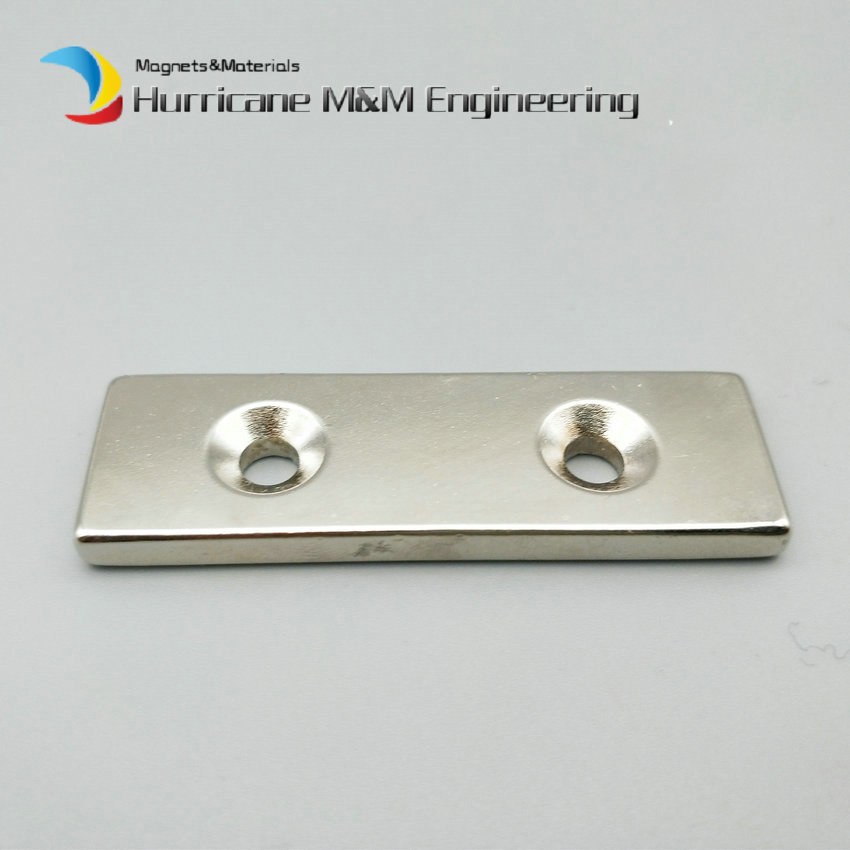 1 pack N42  NdFeB Fix Magnet 60x20x5 mm with 2 M5 Countersunk Hole Block Neodymium Rare Earth Permanent Magnet global elementary coursebook with eworkbook pack