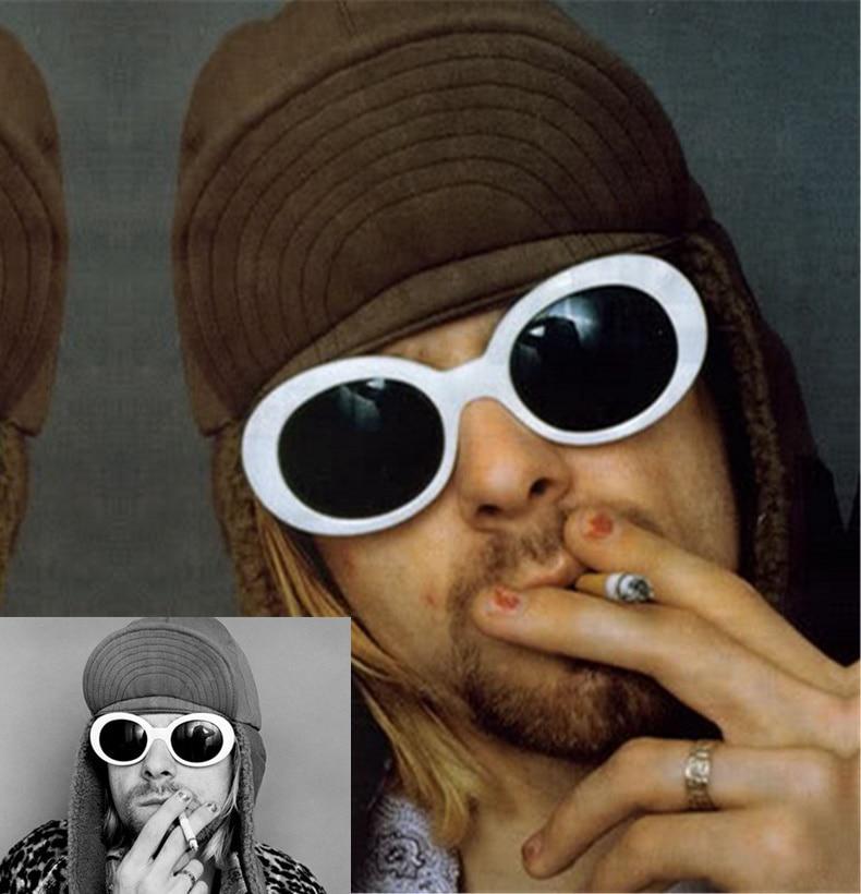 Imwete Mâle Rétro Femmes Miroir Petit Cobain Lunettes Kurt Clout Soleil Hommes Nirvana Blanc Uv400 De v0N8nmwO
