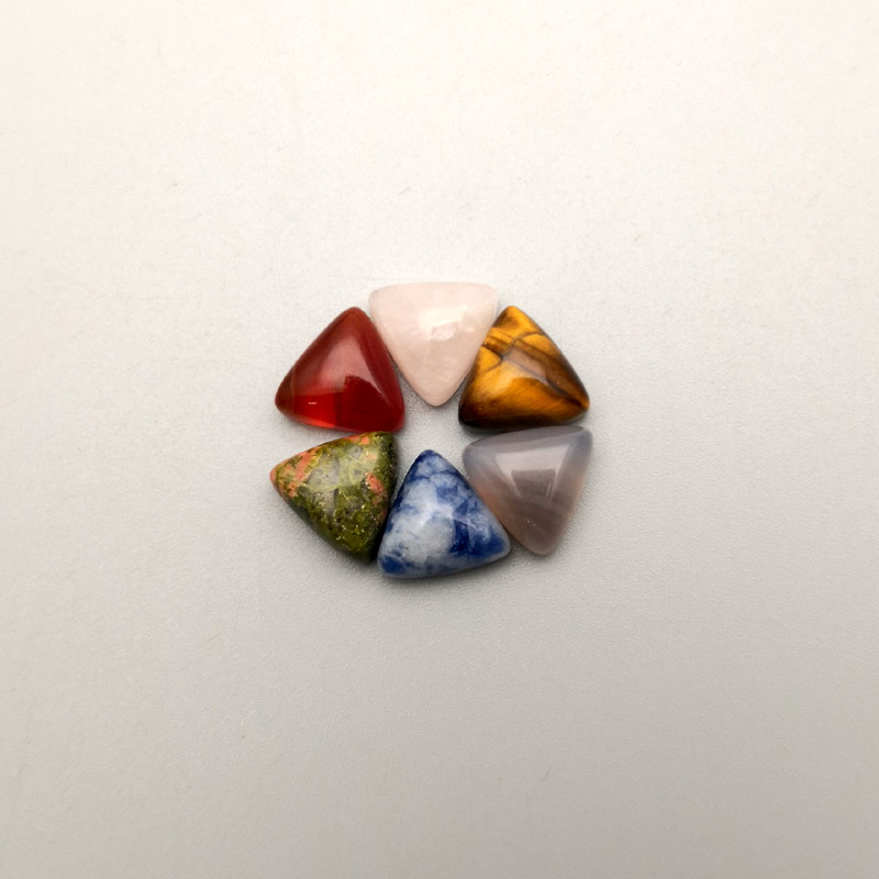 Image 4 - 2016 fashion assorted Triangle cabochon 10MM Charm natural stone beads for jewelry Accessories 50Pc/lot Free shipping No hole-in Beads from Jewelry & Accessories