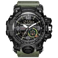 Zgo Men Military Watch 3 Bar Waterproof Wristwatch LED Quartz Clock Sport Watch Male Relogios Masculino